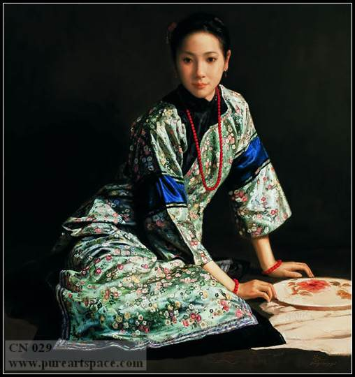 chinese lady painting