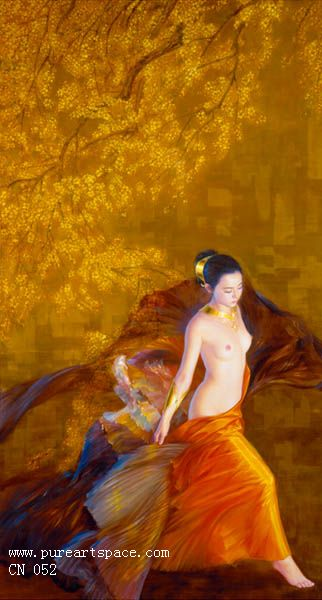 Chinese girl paintings